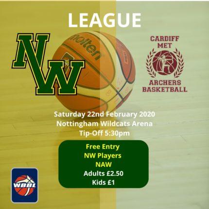 Nottingham Wildcats vs Cardiff Met Archers